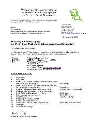 Einladung Jahrestagung Verband Bayerischer Kreisfachberater ...