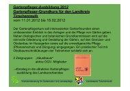 Gartenpflege-Grundkurs Programm 2012 Landkreis Tirschenreuth