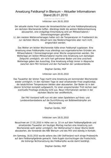 Offizieller Infoticker von Stephan Gerdes / Hauptgeschäftsführer FKV