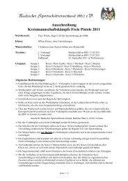 Ausschreibung Kreismannschaftskämpfe Freie Pistole 2011 - Kreis 8