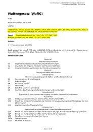 Waffengesetz (WaffG) - Kreis 8
