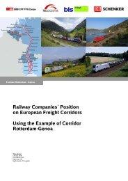Railway Companies´ Position on European Freight Corridors Using ...