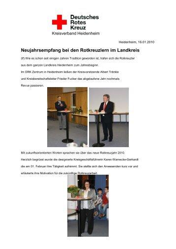 Neujahrsempfang bei den Rotkreuzlern im ... - Drk-Heidenheim
