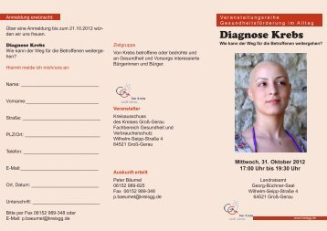 Diagnose Krebs - Kreis Groß-Gerau