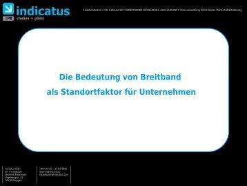 Die Bedeutung von Breitband als Standortfaktor ... - Kreis Groß-Gerau