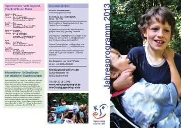 Jahresprogram m 2013 - Kreisjugendring Eichstätt