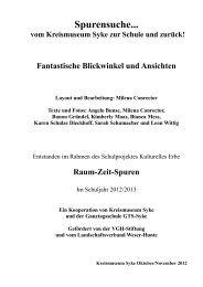 Spurensuche... - Kreismuseum Syke