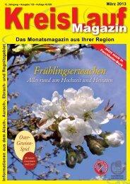 Das Monatsmagazin aus Ihrer Region - KreisLauf Magazin