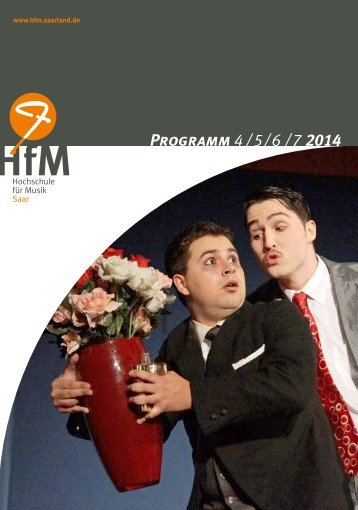 HfM Saar - Konzertprogramm Sommersemester 2014