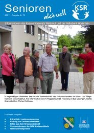 Ausgabe 4/2011 - KreisSeniorenRat Waldshut