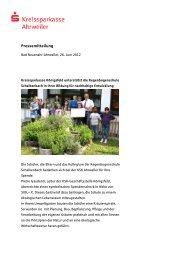 Pressemitteilung - Kreissparkasse Ahrweiler