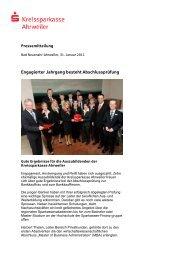 PresseErfolgreicher Lehrabschluss11 - Kreissparkasse Ahrweiler