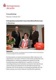 Kreissparkasse präsentiert neues Geschäftsstellenkonzept in ...