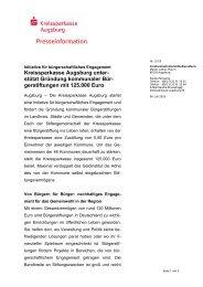 Initiative für bürgerschaftliches Engagement - Kreissparkasse ...