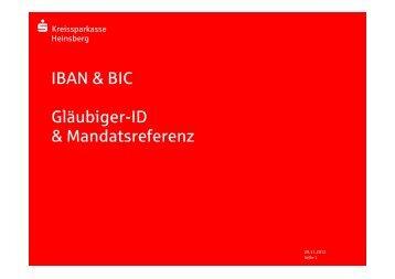 IBAN - BIC - Kreissparkasse Heinsberg
