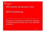 SPG Verein - SEPA-Umstellung - Kreissparkasse Heinsberg