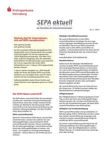 Ausgabe 02/2013 - Kreissparkasse Heinsberg