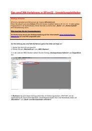 Das smsTAN-Verfahrens in SFirm32 - Umstellungsleitfaden