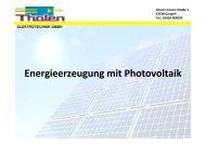 Energieerzeugung mit Photovoltaik - Kreissparkasse Heinsberg