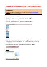 Das smsTAN-Verfahren in windata 8 - Umstellungsleitfaden