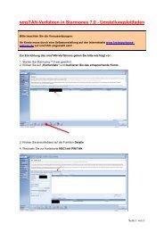 smsTAN-Verfahren in Starmoney 7.0 - Umstellungsleitfaden
