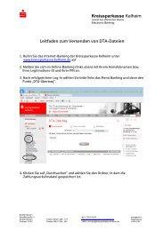 DTA-Dateien - Kreissparkasse Kelheim