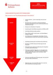 Handlungsempfehlungen für Firmenkunden - Kreissparkasse Kelheim