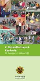 2. Gesundheitssport- Akademie - Kreissportbund Saalekreis