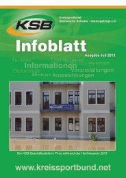 Ausgabe Juli 2013 - Kreissportbund Sächsische Schweiz