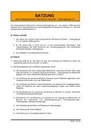 Satzung des KSB - Kreissportbund Sächsische Schweiz ...