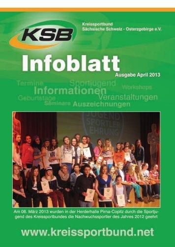 Ausgabe April 2013 - Kreissportbund Sächsische Schweiz