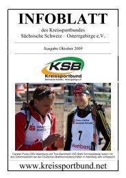 Ausgabe Oktober 2009 - Kreissportbund Sächsische Schweiz