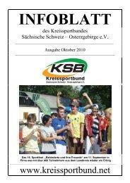 Ausgabe Oktober 2010 - Kreissportbund Sächsische Schweiz ...