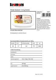 Rinder-Gulasch 1,5 kg Schale