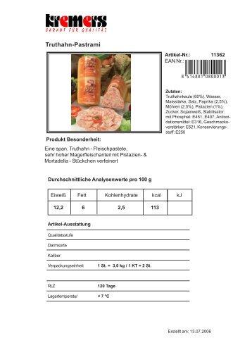 Truthahn-Pastrami