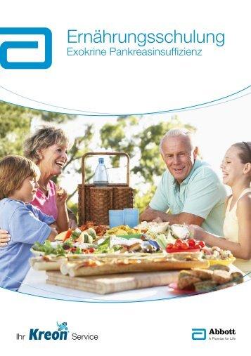 Ernährungsschulung Exokrine Pankreasinsuffizienz - Kreon