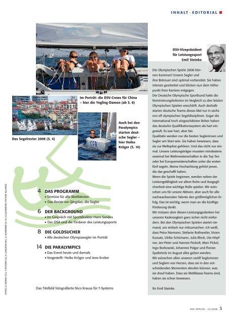 Olympische Spiele - Deutscher Segler-Verband