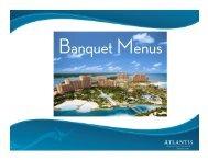 Food and Beverage - Atlantis Banquet Menus 2011
