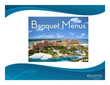 Food and Beverage - Atlantis Banquet Menus 2011
