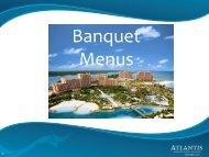 Banquet Menus - Atlantis