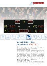Eishockeyanzeigen Modellreihe 710/720