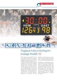 Datenblatt Indoor-Multisportanzeige MSA50 - Heinz Port GmbH