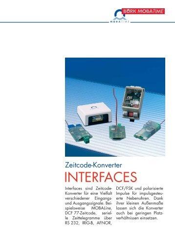 Interfaces Deutsch.qxd - KRETSCHMER Informationselektronik GmbH