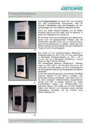 Freisprechtelefone - KRETSCHMER Informationselektronik GmbH