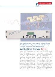 MobaTime Server MTS - und Stempeluhren