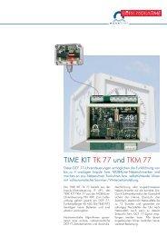 TIME KIT und TK 77 TKM 77 - Bürk Mobatime GmbH