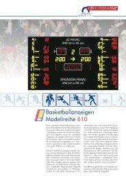 Basketballanzeigen Modellreihe 610