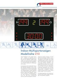 Indoor-Multisportanzeigen Modellreihe 210 H