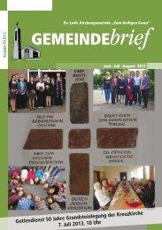 Gemeindebrief Ausgabe 3/2013 - Ev.-Luth. Kirchengemeinde .Zum ...