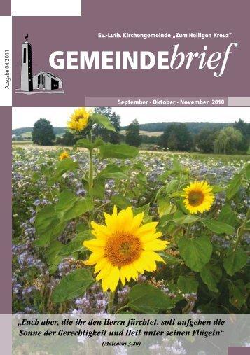 Gemeindebrief Ausgabe 4/2011 - Ev.-Luth. Kirchengemeinde .Zum ...